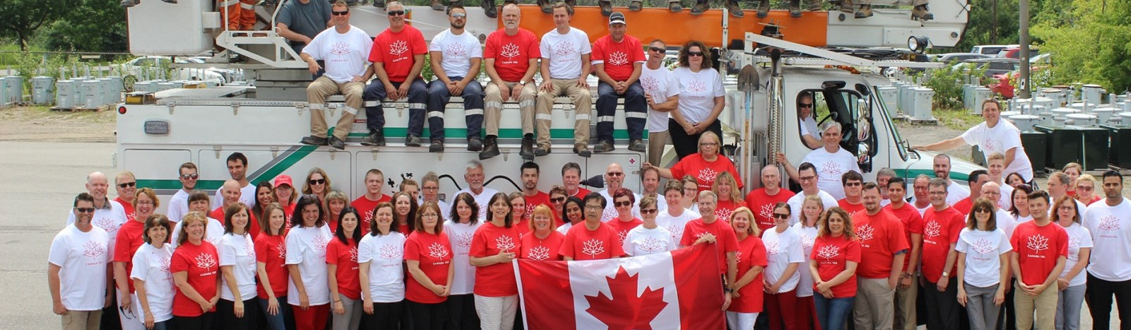 Energy+ employees gathered for Canada Day